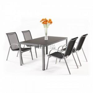 Creador Vergio 4+1 részes alumínium kerti bútor készlet