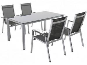 MWH Elements 4+1 részes alumínium kerti bútor készlet